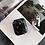 Thumbnail: Sleek stone marble lucite perspex bakelite storage airpods case box