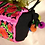 Thumbnail: Vintage traditional Chinese embroidered bag with pom pom details