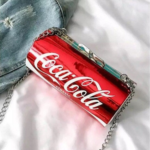 No Coke no live box Clutch case bag