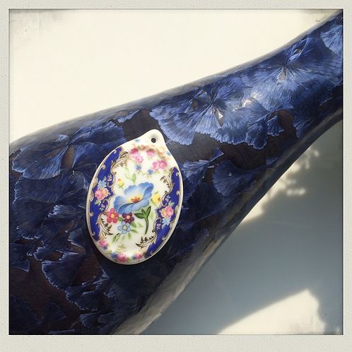 Morning glory Porcelain Pendant