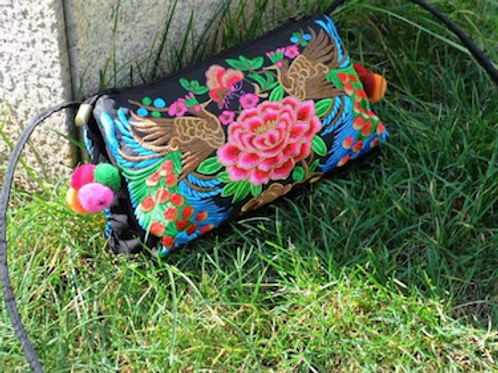 Mary Vintage traditional Chinese embroidered handcarry bag purse