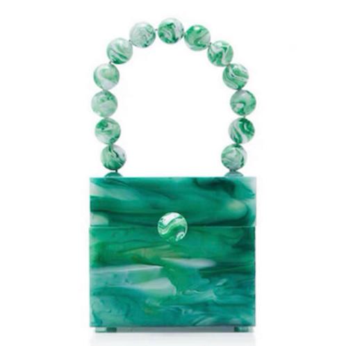 Rare Jady lucite square cube box lucite resin perspex bakelite clutch purse case