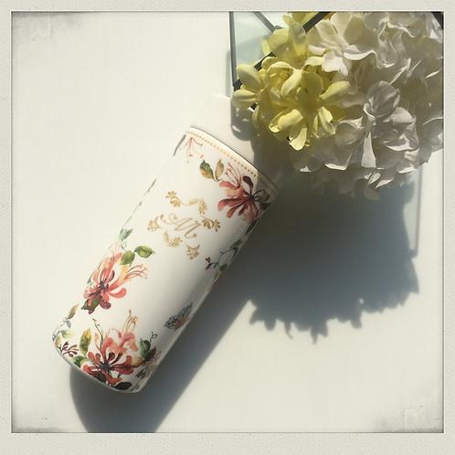 Freda floral porcelain thermos