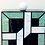Thumbnail: Gatsby art deco geo squared lucite perspex clutch box bag