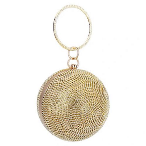 Mars globe shiny crystal swavaski grade box sphere Clutch purse