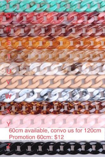 Lucite bakelite marble straps