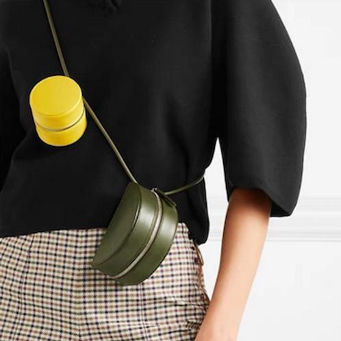 Geo zen cos look tiny vegan leather necklace box bag purse