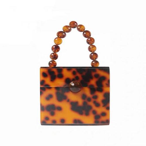 Rare Felice lucite square cube box lucite perspex bakelite clutch purse case bag