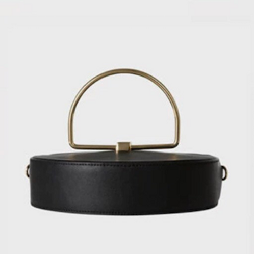 Wilsona MM3 Yoghi look contemporary metal handle hand carry Clutch bag
