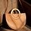 Thumbnail: Ria wooden handle vegan leather handbag handcarrypurse