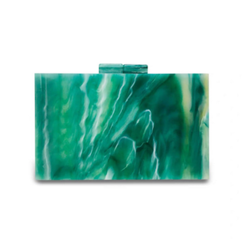 Fran marble lucite Clutch