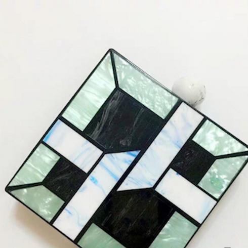 Gatsby art deco geo squared lucite perspex clutch box bag