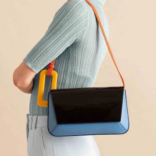 Marni look lucite perspex details handle multi-ways Clutch bag case purse