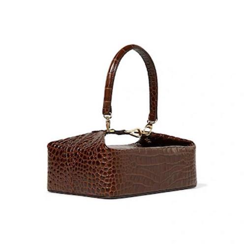 Elena  bold statement look statement vegan croc leather bag purse