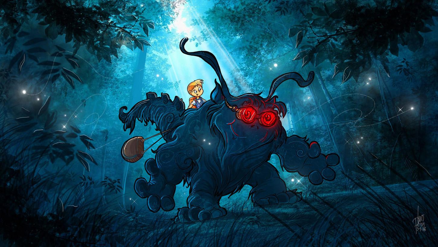 Children-Book-Art-Kid-and-Monster-Friend