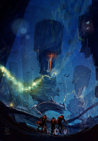 Concept_Art-Bycicle-Riders-Canyon-Alien.