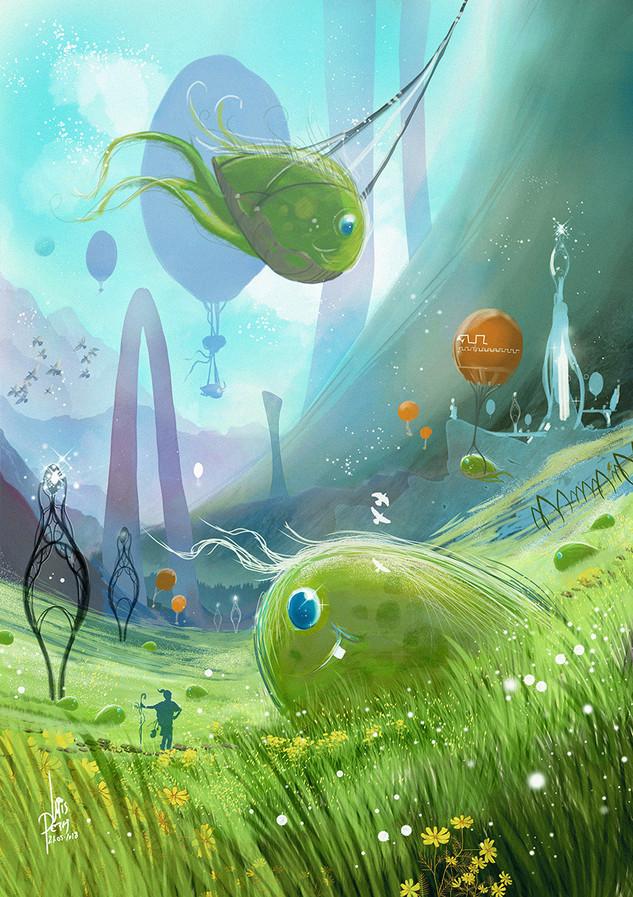 Children-Book-Art-Fields-Of-Green-Cute-M