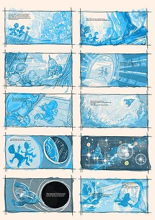 1500xThe Hidden Spaceship STORYBOARD 1 -