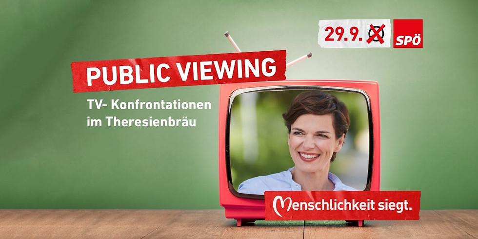 Public Viewing der Wahlkonfrontationen
