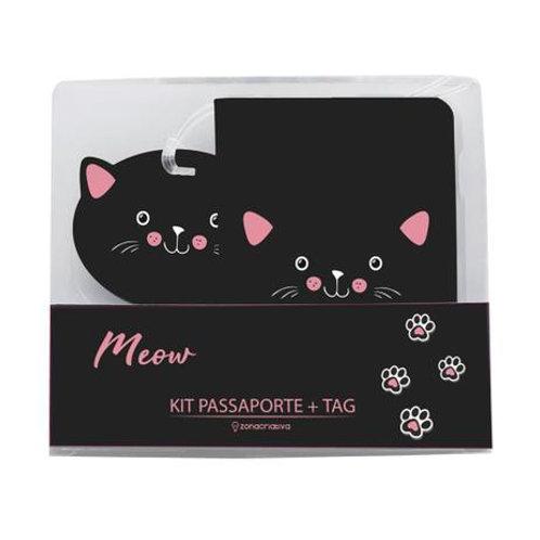 Kit Viagem Meow - Porta Passaporte + Tag Mala
