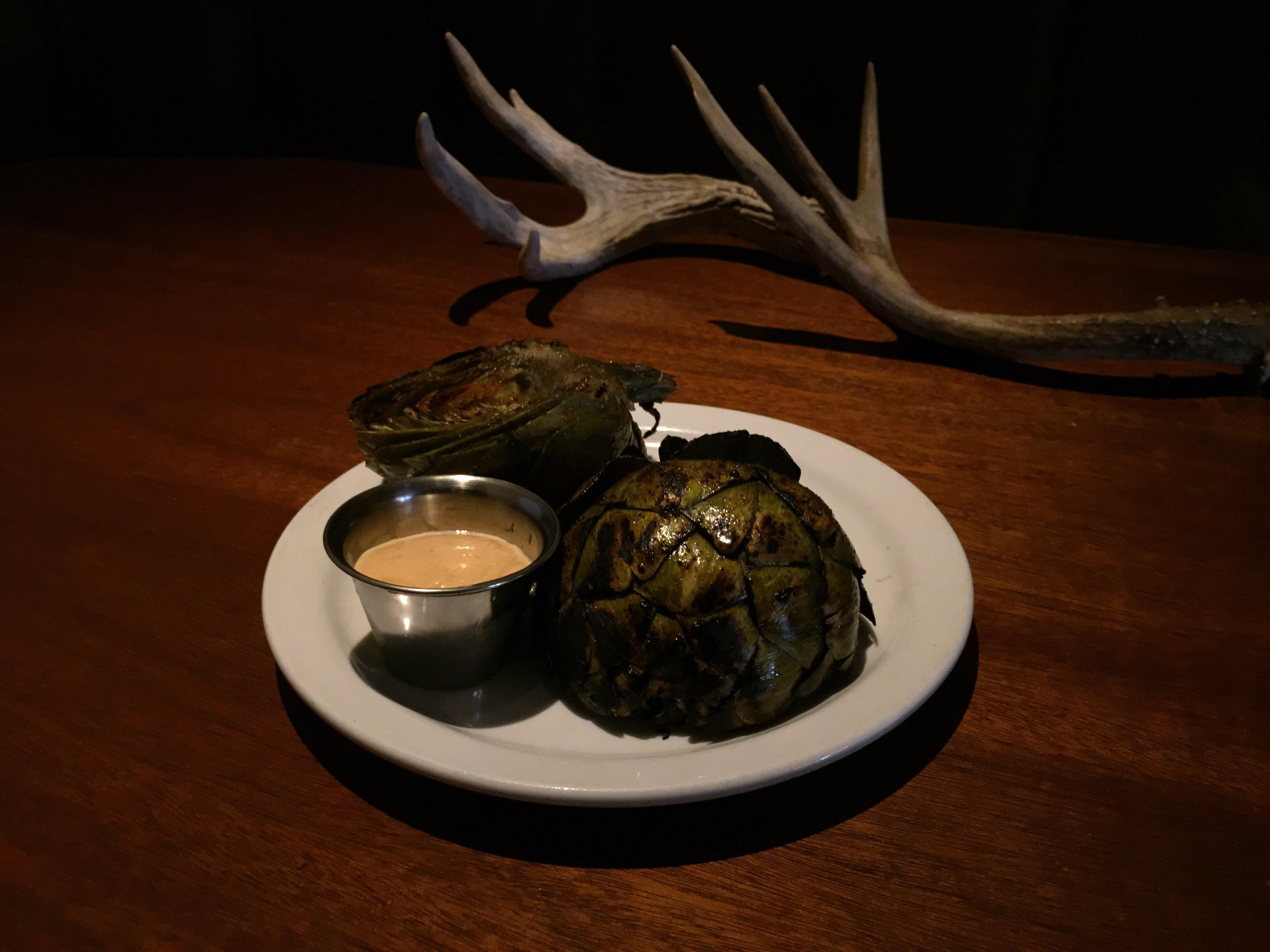 Grilled Artichoke, Shamus T Bones
