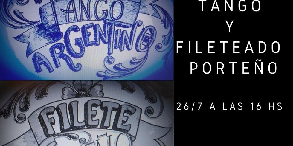 Tango y fileteado Porteño