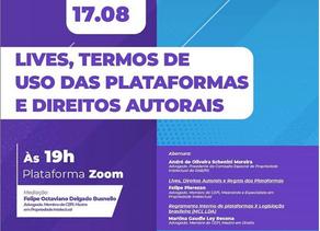 """Felipe Pierozan aborda o tema """"Lives, Direitos Autorais e Regras das Plataformas"""" em evento da OAB"""