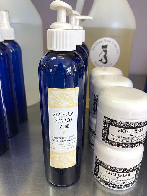 Organic Facial Wash with Shea Butter & Applie