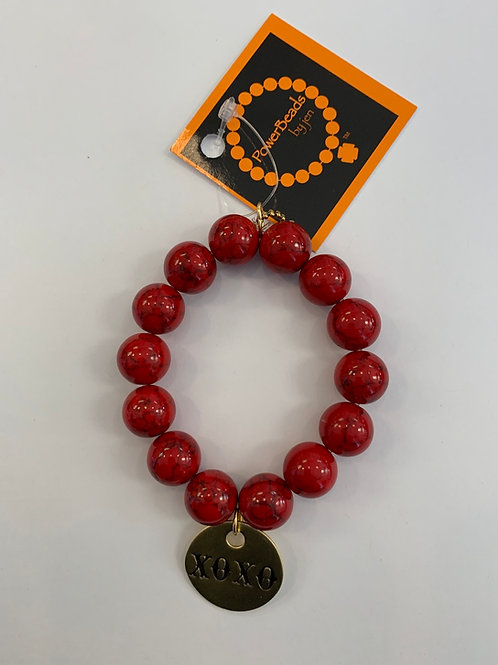 Power Beads by Jen - Red Howlite Beads
