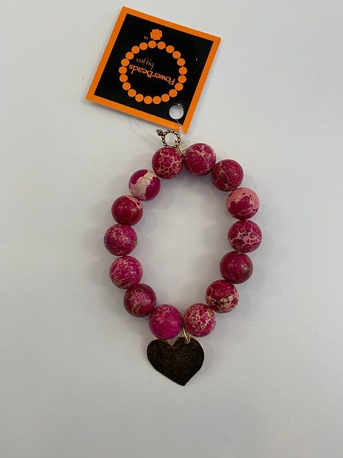 Power Beads by Jen - Pink Jasper Beads