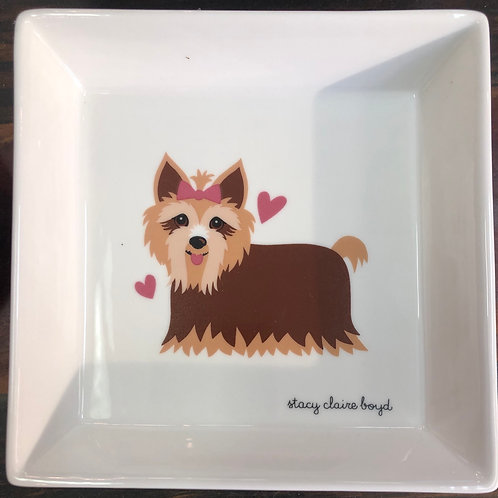 Yorkie Dog Soap Dishe