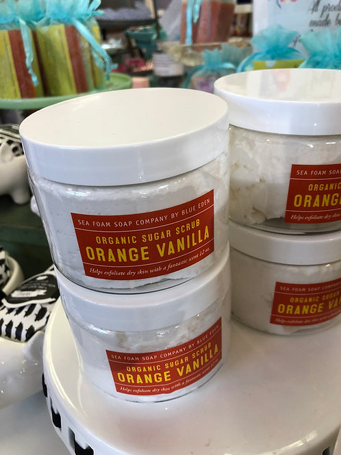 Orange Vanilla Organic Sugar Scrub