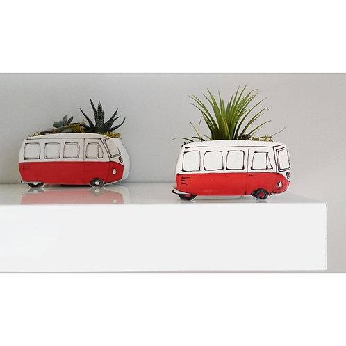 Vintage Volkswagen Van - Planter by Julie Richards