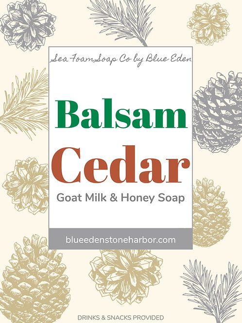 Balsam Cedar Goat Milk and Honey Soap