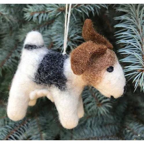 Jack Russell Terrier Felt Ornament