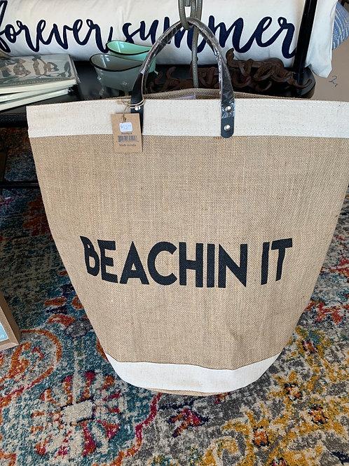 Beachin It - Jute Bag