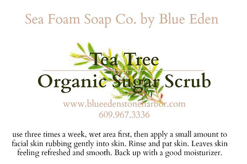 Tea Tree Organic Sugar Scrub