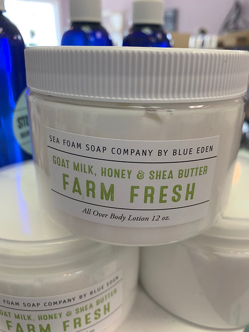 Farm Fresh Goat Milk, Honey and Shea Butter Lotion
