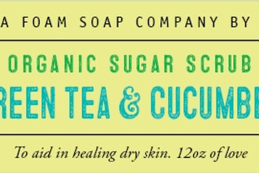 Green Tea and Cucumber Organic Sugar Scrub