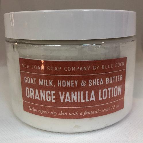 Orange Vanilla Goat Milk, Honey & Shea Butter Lotion