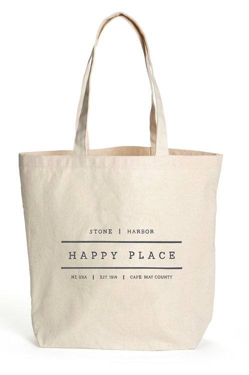Happy Place Csnvas Tote