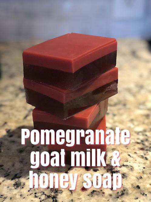 Pomegranate Goat Milk & Honey Soap