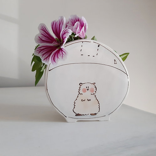 Hamster in a bowl - Planter by Julie Richards
