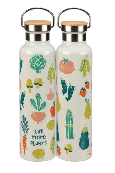 Insulated Bottle - Eat more plants Drink more Wine