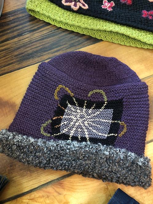Alpaca Handknitted in Black or Purple