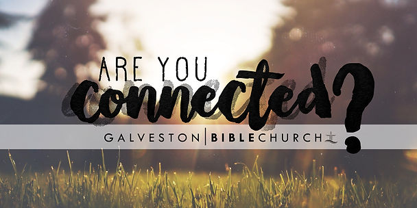 """Galveston Bible Church College LifeGroups """"Are You Connected?"""" Banner"""