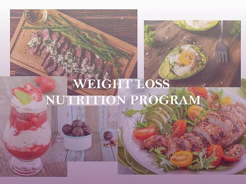 WEIGHT LOSS NUTRITION PROGRAM