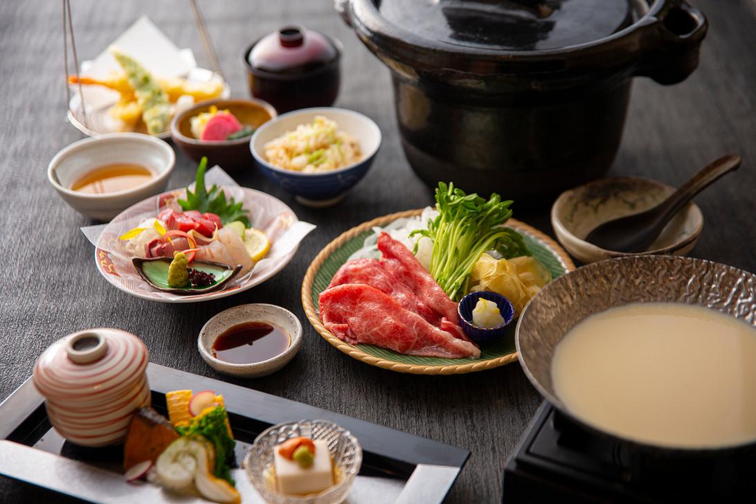 神戸牛の豆乳しゃぶしゃぶ鍋御膳