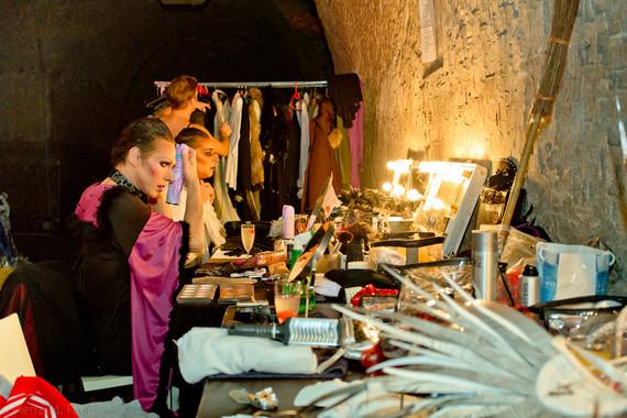 Backstage en maquillage