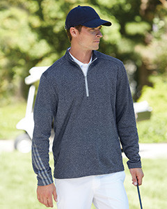 lowest price 681e3 999ea Adidas Golf Men s Heather 3-Stripes Quarter-Zip Layering